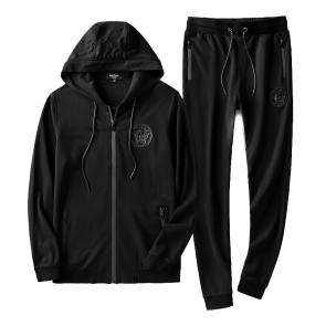 sport survetement versace pas cher hoodie all black